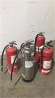 (qty - 5) Assorted Fire Extinguishers-