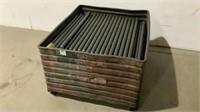 Metal Crate of Conveyor Rollers-