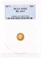 April 12th California Gold Token ONLINE ONLY Auction