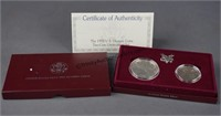1992 US Mint Olympic Two Coin Set w/ Silver Dollar