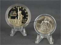 1982 and 1986 US Mint Silver Commemorative Coins