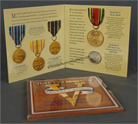 WWII 50th Anniversary Half Dollar & Victory Medal