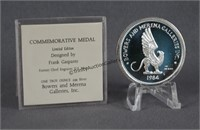 1984 1oz. Silver Salute to the Olympics Coin