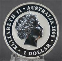 2008 Australian 1oz. Silver Gold Gilded Koala