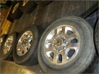 CHEVY Alum 8 bolt wheels -LT265 / 70R/18