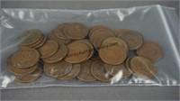 45 Indian Head Pennies 1900-1909