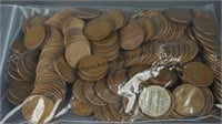250 Lincoln Wheat Pennies 1909-1958