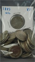 51 Liberty Head V Nickels 1883 Type 1 N/C - 1911