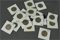 16 Buffalo Nickels 1913 Type 2 - 1938-D