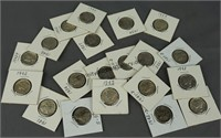 20 Mercury Silver Dimes 1929-1943