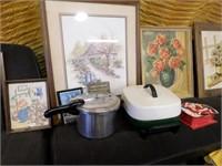 Pressure cooker - elec.skillet - wall decor -