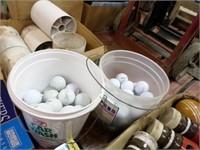 2 buckets golf balls