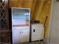 Utility cabinet w/ glass sliding doors