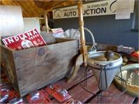 wood box - cone strainer - quilt rack