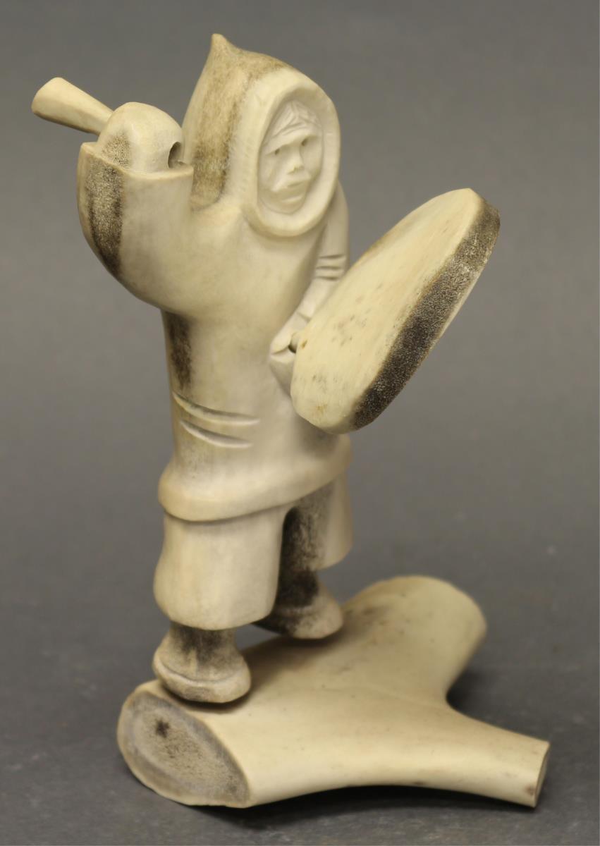 Inuit Bone And Antler Carving Hodgins Art Auctions Ltd Halls Auction Services