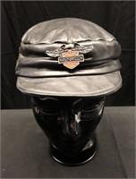 Leather Harley Davidson Hat Size Large