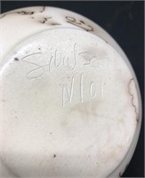 2-Signed Horse Hair Pottery (one has a chip)