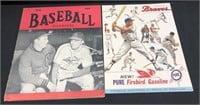 1944 & 1962 Baseball Programs