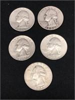 1952, 1959 & 3-1964 Silver Quarters