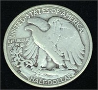 1939 D Walking Liberty  Half Dollar