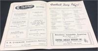 1948 Steelers VS Packers Football Program