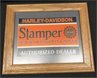 Framed 8X10 Harley Davidson Advertisement
