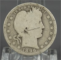 1896-O Barber Quarter - Key Date