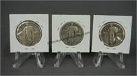 3 Standing Liberty Quarters 1929 1930