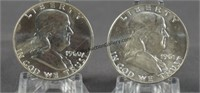 1960 1961-D BU Franklin Half Dollars