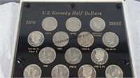 1979-1989 Kennedy Half Dollar Unc. & Proof Set