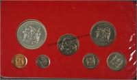 1972 Coins of Jamaica Unc. 7 Coin Silver Set