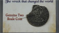 1783 Genuine Silver 2 Reale Shipwreck Recovery