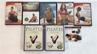 8 Yoga and Pilates Workout DVDs