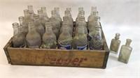 24 Vintage Sun Crest Soda Bottles Dr Pepper Case