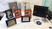 Lot of Picture Frames One Digital & Mickey Mouse