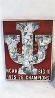 Lot of IU Indiana Univ. Items Plaque Banner & Seat