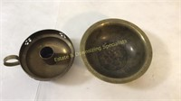 Collection of Vintage Brass Bowls & Vases