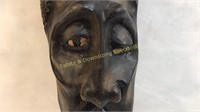 """Cool Modern African Style Wood Carving 30""""L x 8""""W"""