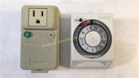 Lot of Various Light Timers & Carbon Alarm