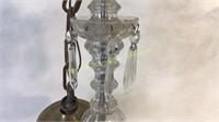 Antique Crystal Electrified Candelabra Chandelier