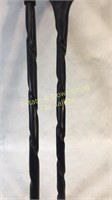 Antique African Walking Canes Elephant & Head