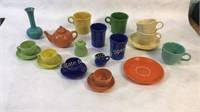 Fiesta Multi-Colored Tea Set & More