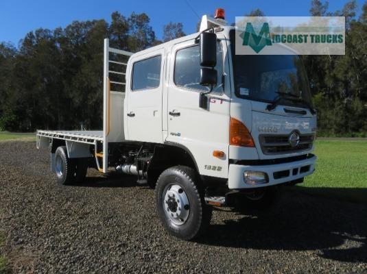 2013 Hino 500 Series 1322 GT 4x4 Crew Midcoast Trucks - Trucks for Sale