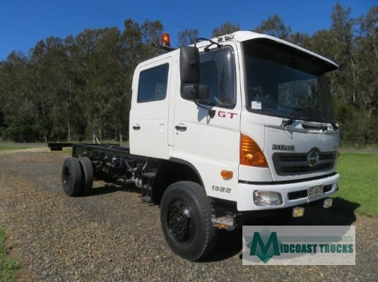 2009 Hino 500 Series 1322 GT 4x4 Crew Midcoast Trucks - Trucks for Sale