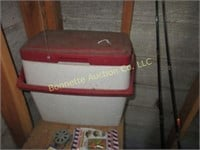 FISHING TACKLE, 6 RODS & REELS