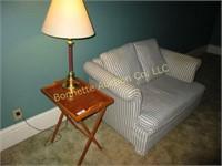 SOFA, TABLE, & LAMP