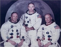 Sgd. Apollo 11 Photo: Aldrin, Armstrong, Collins.