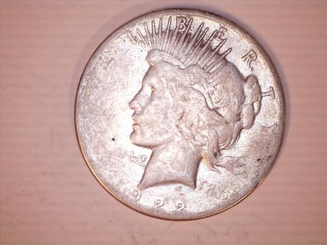 1922 S Peace Silver Dollar | Lippard Auctioneers, Inc