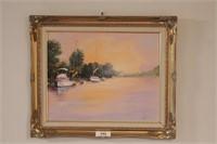 3 Brannon Original Framed Oil on Canvas Art Pieces