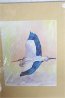4 Brannon - Blue Heron & Macaw Watercolor Art